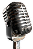3d illustration old rusty microphone on a white background Stock Image