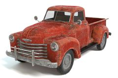 Old Rusty Pickup Truck. 3d illustration of an old rusty pickup truck Royalty Free Stock Image