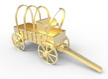 3d illustration of old style cart. royalty free illustration