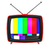 3D Illustration of old style red TV isolated on white Royalty Free Stock Photo