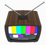 3D Illustration of old style wooden case TV isolated on white Royalty Free Stock Images