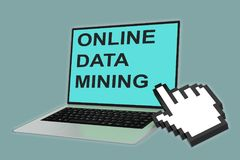 Online Data Mining concept Royalty Free Stock Photos