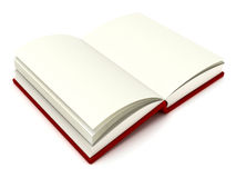 3D Illustration of an Open Book. On white Stock Photos