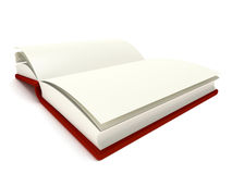 3D Illustration of an Open Book Stock Images