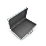 3d illustration of an open metal case Stock Photo