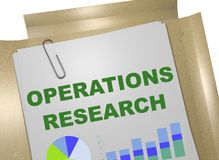 Operations Research concept. 3D illustration of OPERATIONS RESEARCH title on business document Royalty Free Stock Photos