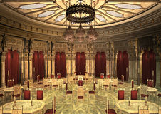 3d Illustration Oriental Palace Stock Images