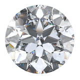 3D illustration oval diamond stone. On a white background Stock Images