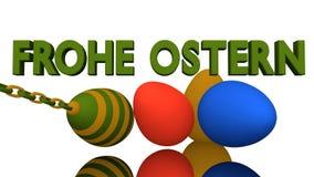 3d-Illustration, ovos da páscoa coloridos Imagens de Stock