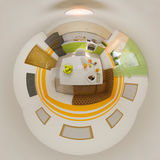 3d illustration panorama of kitchen interior Stock Images