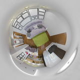 3d illustration panorama of living room interior Royalty Free Stock Image