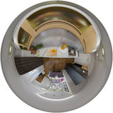 3d illustration panorama of living room interior Stock Images