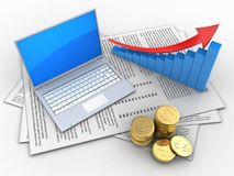 3d arrow graph Royalty Free Stock Images