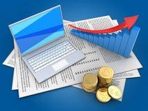 3d arrow graph Stock Photos