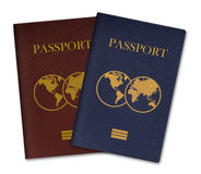 3D illustration of Passports isolated on white Royalty Free Stock Images