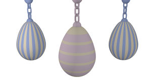 3d-illustration, Pastel Easter eggs. Pastel colored Easter eggs on white background royalty free illustration