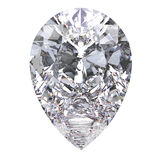3D illustration pear diamond stone. On a white background Stock Photography