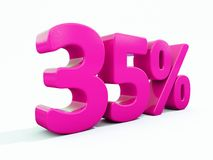 35 Percent Pink Sign. 3d Illustration 35 Percent Discount Sign, Sale Up to 35, 35 Sale, Pink Percentages Special Offer, Save On 35 Icon, 35 Off Tag, 35 Royalty Free Stock Photography
