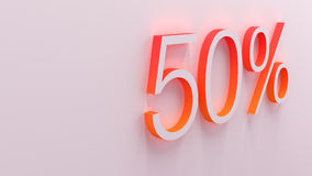 3D illustration of percentage numbers Stock Images