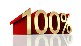 3D illustration of 100 percentage. On a white background Stock Photo