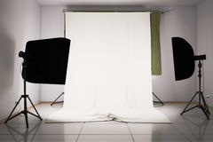 3d illustration of a photo studio. Interior with different equipment Royalty Free Stock Images