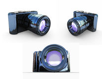 3d illustration of photographic camera Stock Photography