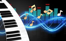 3d spectrum piano keyboard Stock Images