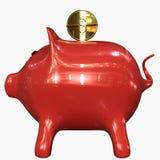3d illustration of pig coin bank. stock illustration