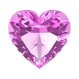 3D illustration  pink diamond heart stone. On a white background Royalty Free Stock Photography
