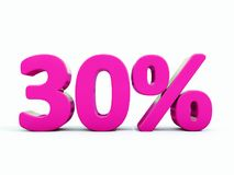 30 Percent Pink Sign. 3d Illustration Pink 30 Percent Discount Sign, Sale Up to 30, 30 Sale, Pink Percentages Special Offer, Save On 30 Icon, 30 Off Tag, Pink 30 Stock Images