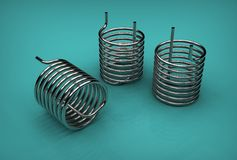 3d illustration of pipe coils Stock Images