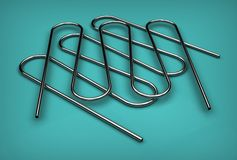 3d illustration of pipe coils Royalty Free Stock Photos