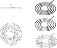 3d illustration of pipe coils Royalty Free Stock Images