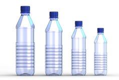 3d illustration of plastic bottle. Isolated on white background royalty free illustration