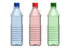 3d illustration of plastic bottle. Isolated on white background stock illustration