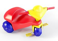 3D plastic tricycle vector illustration