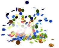 3d illustration of Poker Chips Royalty Free Stock Image