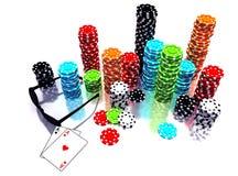 3d illustration of Poker Chips Stock Photography