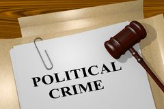 Political Crime concept Royalty Free Stock Images