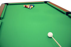 3D illustration pool billiard game. American pool billiard. Pool billiard game, Billiard sport concept. Stock Image