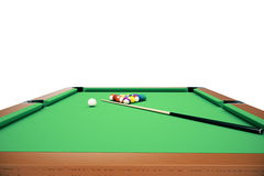 3D illustration pool billiard game. American pool billiard. Pool billiard game. Billiard sport concept. Royalty Free Stock Image