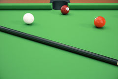 3D illustration pool billiard game. American pool billiard. Pool billiard game, Billiard sport concept. 3D illustration pool billiard game. American pool Stock Photo
