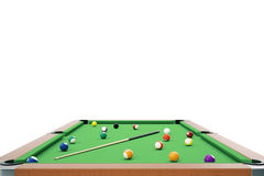3D illustration pool billiard game. American pool billiard. Pool billiard game, Billiard sport concept. 3D illustration pool billiard game. American pool Royalty Free Stock Photography