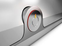 3d Illustration of power button with red light Stock Photography