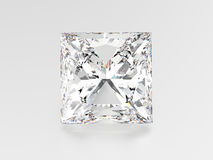 3D illustration princes diamond stone. On a grey background Stock Photography