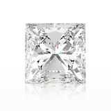 3D illustration princes diamond stone with reflection. On a white background Royalty Free Stock Image