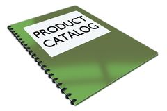PRODUCT CATALOG concept. 3D illustration of PRODUCT CATALOG script on a booklet, isolated on white vector illustration