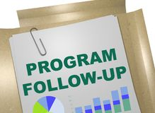 Program Follow?up concept. 3D illustration of PROGRAM FOLLOW-UP title on business document Royalty Free Stock Photo