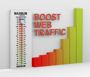3d mixer button boost web traffic Royalty Free Stock Photo