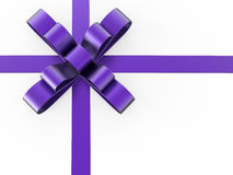 3D illustration purple gift bow Stock Photography